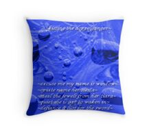 ~Kissing the Doppelganger~ (snippet) Throw Pillow