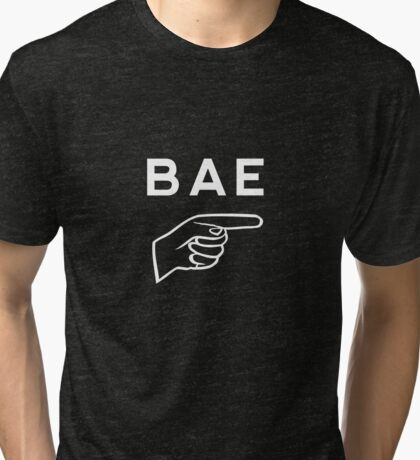 Funny matching couple (right)  - BAE Tri-blend T-Shirt