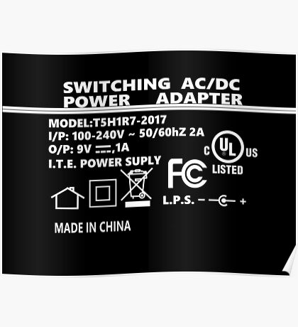 Switching AC/DC Power Adapter Poster
