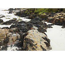 Wild Nature - Rocks, Sand and Seaweed, Great Bernera Photographic Print