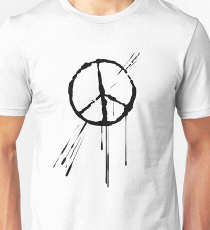 Splatter Peace Sign (black) Unisex T-Shirt