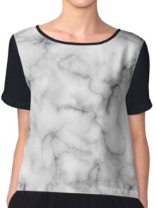 White Marble #redbubble #lifestyle Women's Chiffon Top