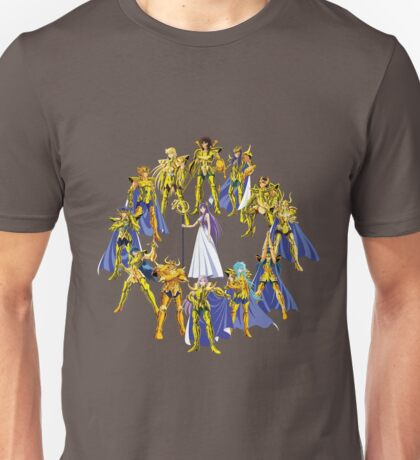 Gold Saints and Athena Unisex T-Shirt