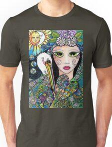 Gypsy Art, Mermaid & Her Tattooed Pelican by Sheridon Rayment Unisex T-Shirt