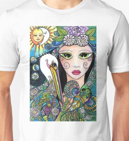 Gypsy Art, Mermaid & Her Tattooed Pelican by Sheridon Rayment Unisex T-Shirt