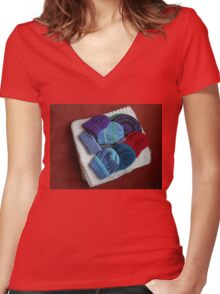 Winter Hats Women's Fitted V-Neck T-Shirt