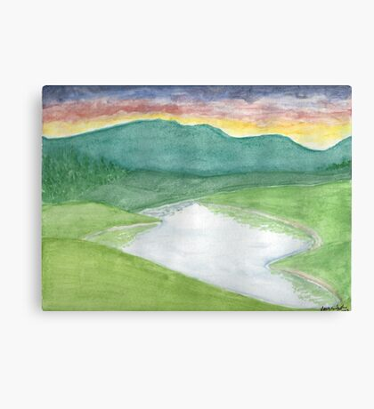 Many Hills, Wow Green Canvas Print