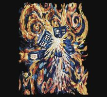 Big Bang Attack Exploded Flamed Phone booth painting by Arief Rahman Hakeem
