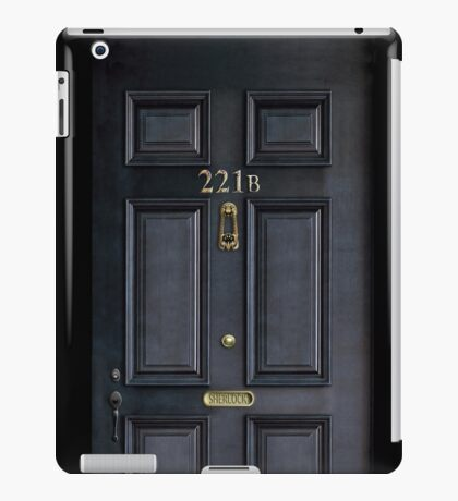Black Door with 221b number iPad Case/Skin