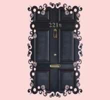 Black Door with 221b number Kids Clothes