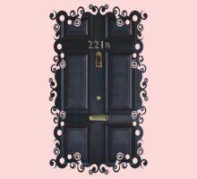 Black Door  with 221b number Kids Clothes