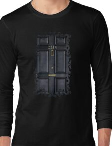 Black Door with 221b number Long Sleeve T-Shirt