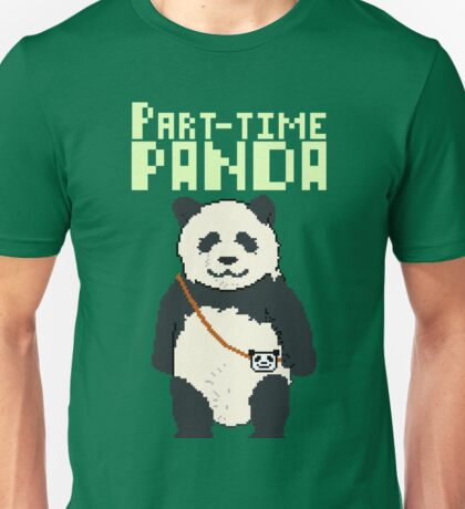 8-bit part-time panda Unisex T-Shirt