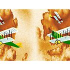 Biplanes in Aerial Games - mug by Dennis Melling