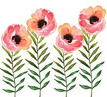 Watercolor Flower by junkydotcom