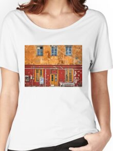 Colorful Kaminia village - Hydra island Women's Relaxed Fit T-Shirt