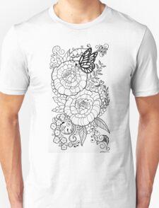 Peony Tattoo Design Unisex T-Shirt