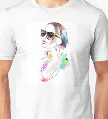 Fashion beautiful woman  Unisex T-Shirt