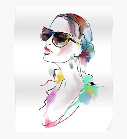 Fashion beautiful woman  Poster