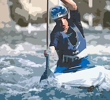 Physical exertion in canoeing 1 (c)(h) transformed how Picasso painting by Okaio - caillaud olivier