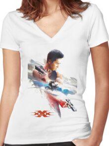xxx xiang Women's Fitted V-Neck T-Shirt