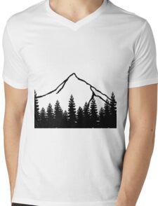 Simple mountain Mens V-Neck T-Shirt