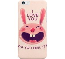 Bunny with love iPhone Case/Skin