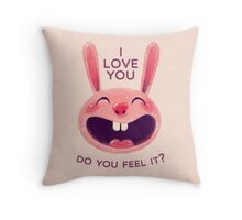 Bunny with love Throw Pillow
