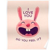 Bunny with love Poster