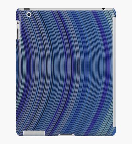 curve ribbon pattern blue iPad Case/Skin
