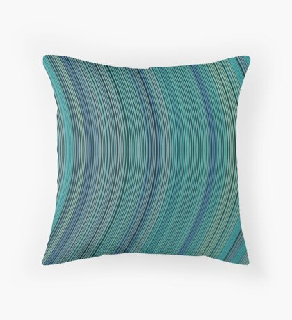 curve ribbon pattern light blue Throw Pillow