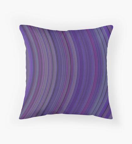 curve ribbon pattern purple Throw Pillow