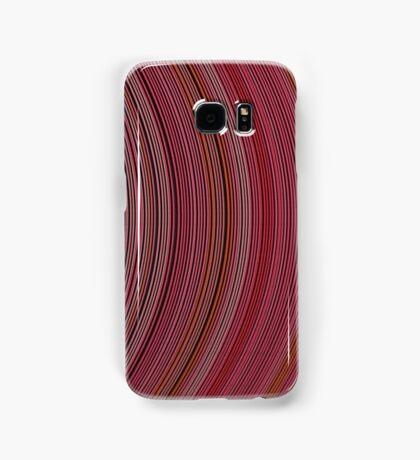 curve ribbon pattern red Samsung Galaxy Case/Skin