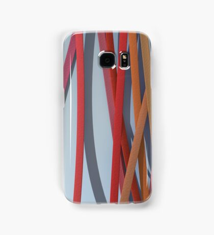 ribbon paper background red Samsung Galaxy Case/Skin