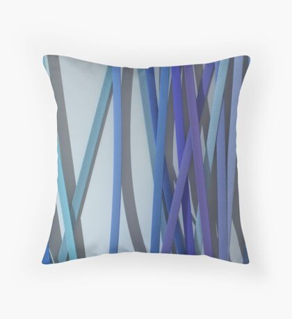 ribbon paper blue Throw Pillow