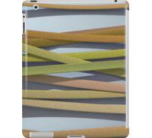 ribbon paper background yellow iPad Case/Skin