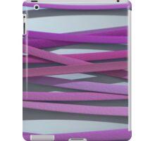 ribbon paper background magenta iPad Case/Skin