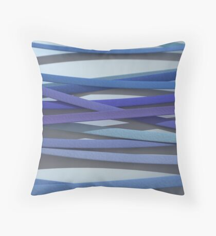 ribbon paper background blue Throw Pillow