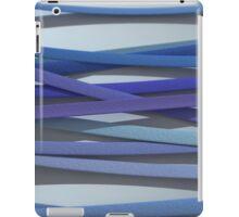 ribbon paper background blue iPad Case/Skin
