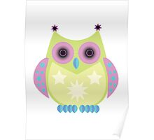 Star Owl - Green Purple Blue Poster