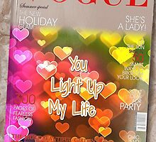 """""""You light up my life"""" gift card. by romanticushions"""