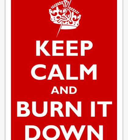 Keep Calm and Burn It Down Sticker
