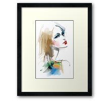Fashion portrait Framed Print