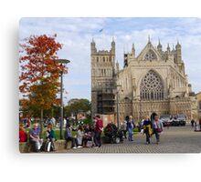 Exeter Cathedral. Devon Uk Canvas Print