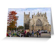 Exeter Cathedral. Devon Uk Greeting Card