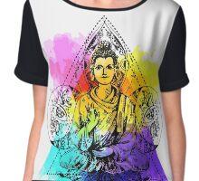 Buddha illustration Chiffon Top
