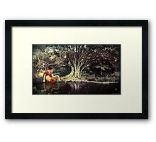 In a tranquil woodland setting Framed Print