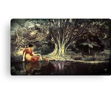 In a tranquil woodland setting Canvas Print