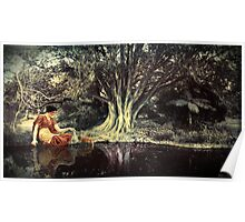 In a tranquil woodland setting Poster