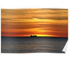 Sunrise in the sea Poster